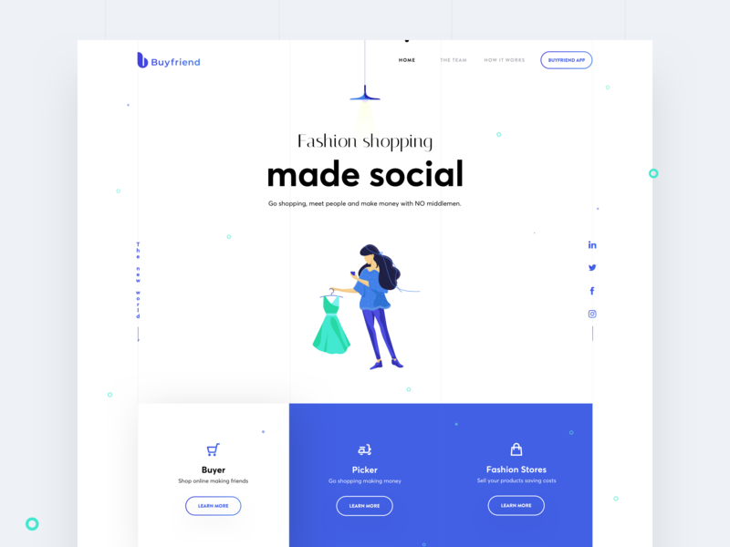 Buyfriend Website - Home ios mobile website webdesign userinterface visualdesign illustration app ui