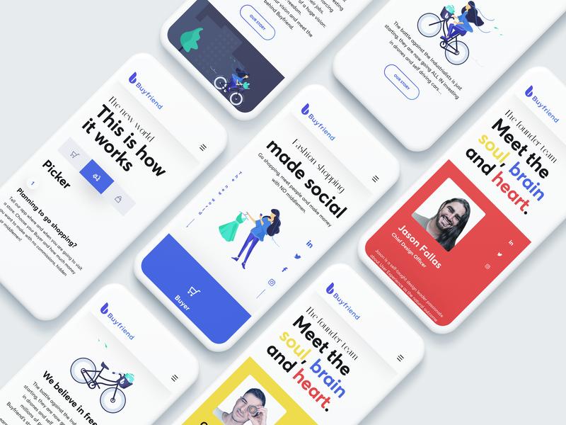 Buyfriend Website - Mobile ux uidesign userinterface uxdesign visualdesign ios mobile illustration app ui