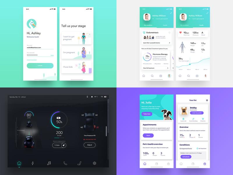 My Top 4 Shots 2018 ixd visualdesign uidesign mobile ios app ui