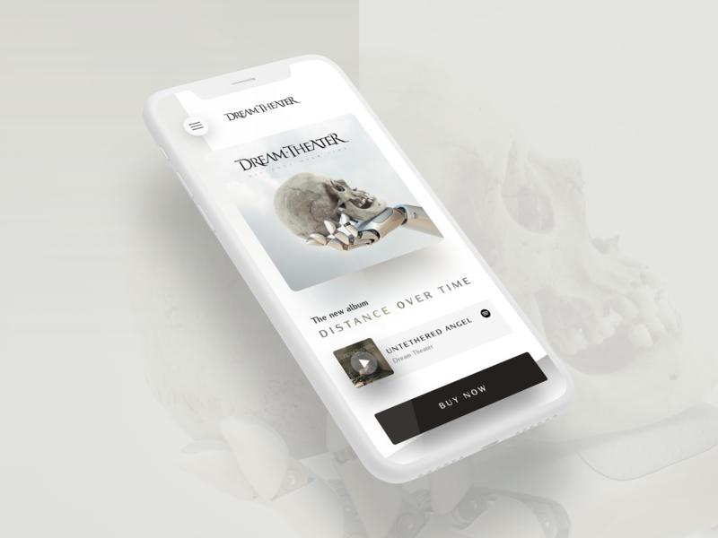 Dream Theater - New Album UI Concept music music app mockup userinterface visualdesign uidesign mobile ios app ux ui