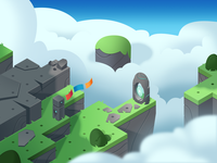 Dodo Peak | Sky Style Frame isometric illustration sky game art concept art