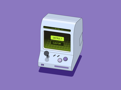Robinhood // Purple worker machine railroad solar panel snes consoles computers robinhood purple isometric illustration