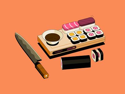 Robinhood // Extra house flood fire debt credit card bill messaging phone currency money cash knife sushi robinhood isometric illustration