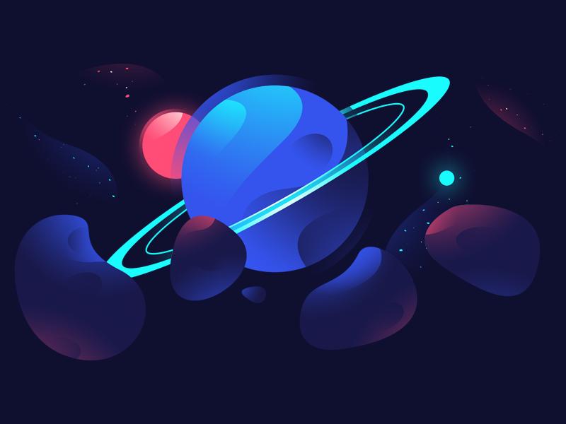 Planet dribbble