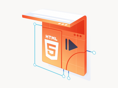 Learn HTML5 Graphics and Animation curve canvas page web pause play html logo course illustration code