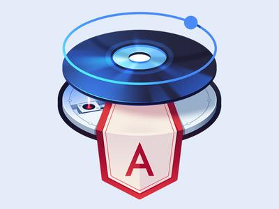 Ionic Quickstart for Windows and Mac disk cd reader laser run install ionic angular logo course illustration code