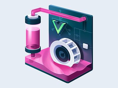 Build Async Vue.js Apps with RxJS waterwheel tubing pump cool water processor motherboard course rxjs vue.js