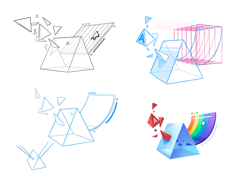 Angular elements sketches