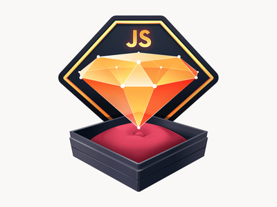 Data Structures and Algorithms in JavaScript logo cushion algorithm box jewelry diamond crystal developer code javascript gradient illustration