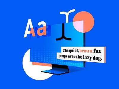 Typography   Design Report 2018 blue photoshop creative 2018 font monitor graphic typography design gradient illustration
