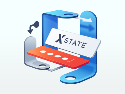 Construct Sturdy UIs with XState sketch ui code password tag field state 3d gradient illustration