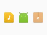 Icon set for FileManager