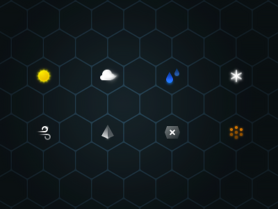 Cool weather For CM Locker science fiction icon wind dust ice rain cloudy sun weather sci-fi cool