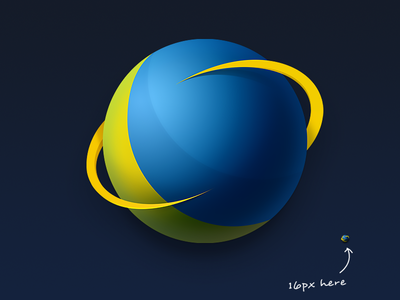 Icon For Game Booster App logo accelerator speed planet moon earth 16px icon