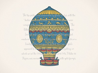 Montgolfier brothers' balloon 18th century balloon hot air
