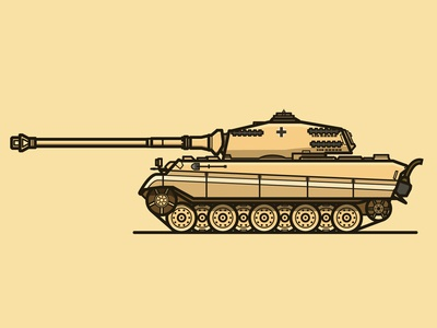 TANK TIME wwii vector tiger 2