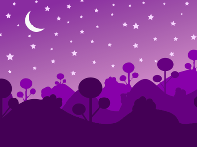 Starry Night (2-d vector illustration) branding design graphic design 2d vector illustration animation