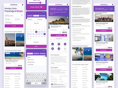 Hotelforex Mobile Design design iphonex hotel branding haggle holiday trips travel mobile design mobile ui purple hotel booking hotel app profile user application ui