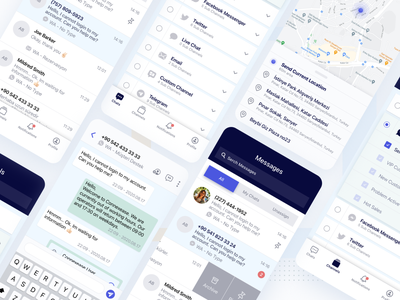 Connexease - Customer Care Chat Mobile App search user ui application profile chatting chat mobile app design mobile application customer chat customer dark app dark ui whatsapp chat app mobile app