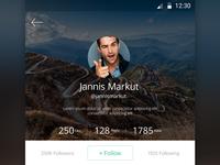 Mobile App Profile Screen