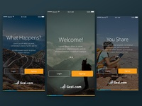 iPhone Mobile App intro screen