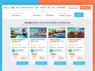Tatil.com popular search result, popular hotels list tatilcom booking carousel hotel reservation resort room site slide theme travel