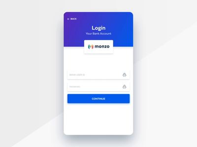 Login Your Bank Account Animation search simple profile user web wallet typography design product print mobile fintech  illustration finances card credit branding blue banking animation
