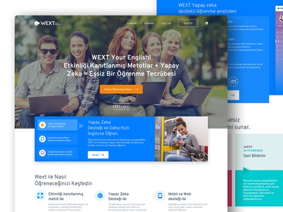 Wext Online English Learning Course Platform, Home Page