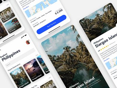Traveler Explore App asia island booking icon search profile user application ui iphonex apple ios redesign responsive mobile app travel app travelers traveler