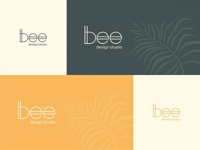 Personal Branding - Bee Design Studio pastel colors design studio logo inspiration personal branding design catchy logo logo for start-ups logo business card design identity design graphic design branding