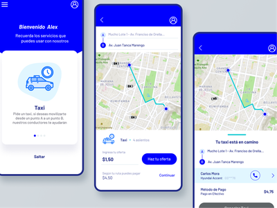 Taxi App Concept user experience user interface app uidesign