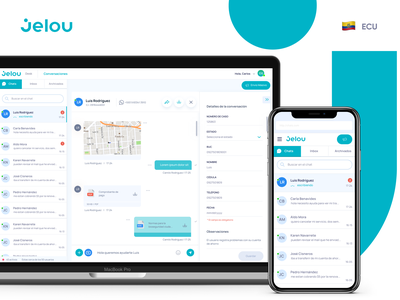 Jelou Dashboard mobile ui dashboard ui design user experience app user interface