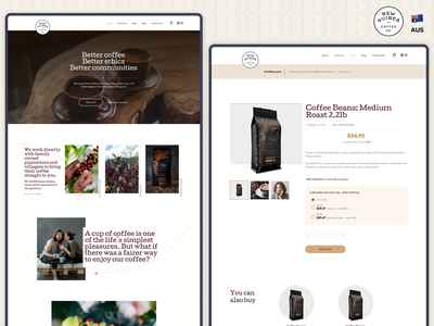 Coffee Subscription Website ui user experience design web design user interface