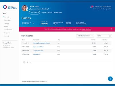 BG - Propuesta Rediseño Banca Virtual bank app web design ui app ux user interface