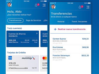 Banca Móvil ui app user interface bank app ux