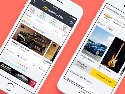 Fullclasificados App uxdesign uidesign app concept app ios