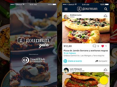 Gourman Guide ui app concept food app user interface ux