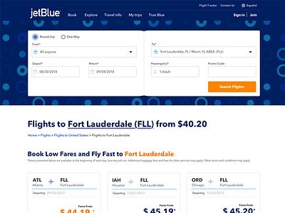 Jetblue Desktop web design user interface app concept uidesign
