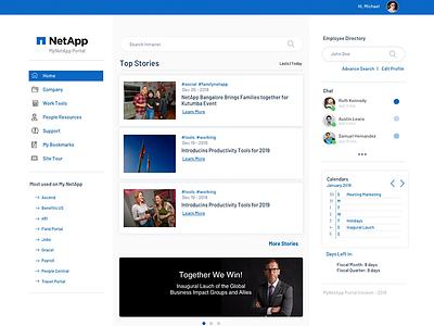 Netapp Intranet intranet uidesign web design ux ui app concept user interface