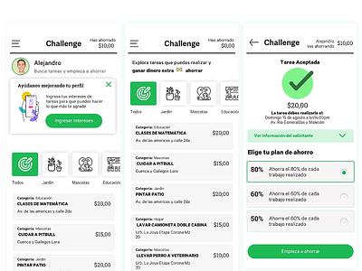 Challenge app Concept app uidesign app concept user interface ux ui
