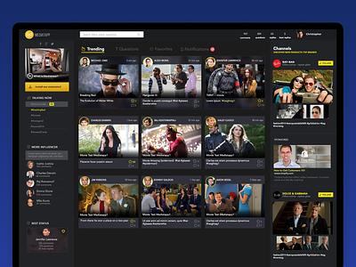 MediaTapp concept App dark ui web design ux ui app uidesign user interface