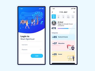 Spiritual App Proposal app concept uidesign user interface