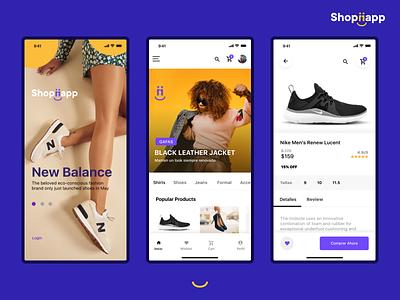 Shoppiapp ecommerce design ecommerce app design uidesign user interface