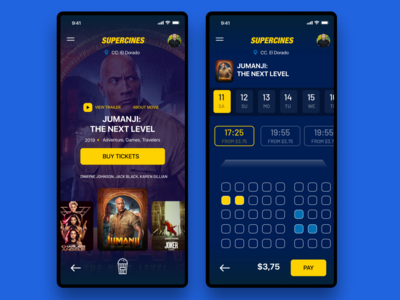 Concept App for buy tickets