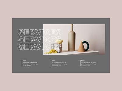 Web design layout ceramics colors graphicdesign uidesign web design