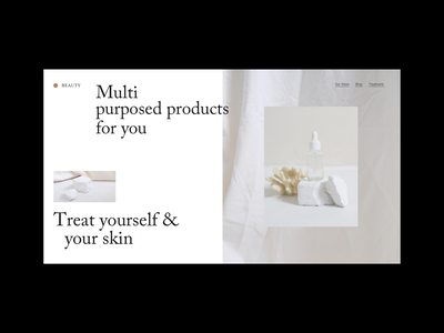 Beauty Layout Web skincare beauty webdesign uidesign web design layout minimal branding design branding color design
