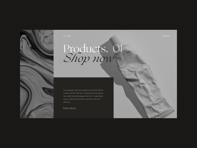 Section layout Design web minimalistic branding design ui layout minimal branding design