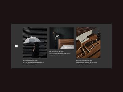 Slideshows for Editor X website photography images web layout web design company web design slideshow minimal uidesign branding design design