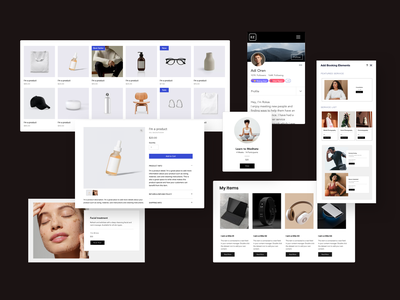 Editor X product - image making apps design wix apps layout branding design minimal design