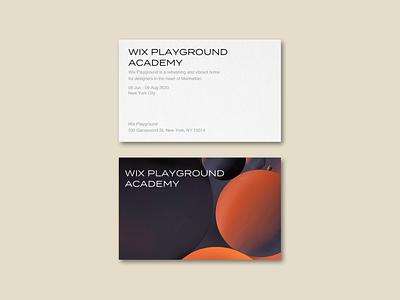 Wix Playground Academy workshop site web design webdesign layout minimal branding design
